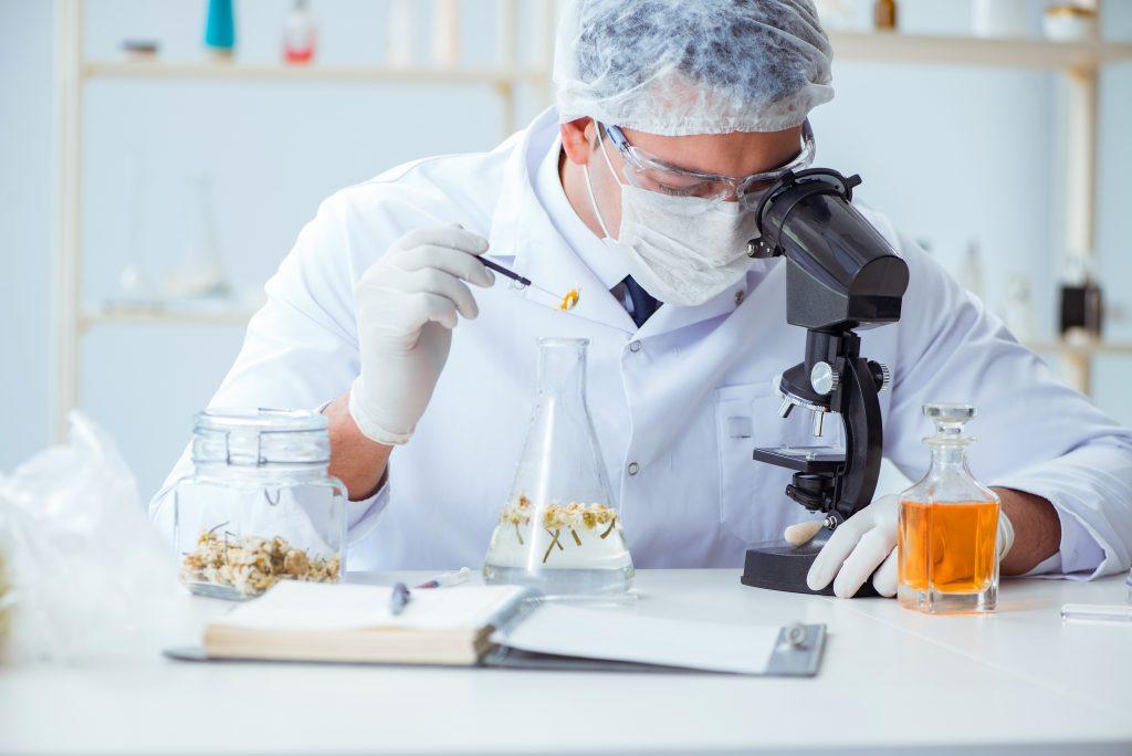 farmaceuta opracowujący skład nowego suplementu